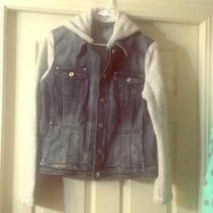 Denim and cotton jacket